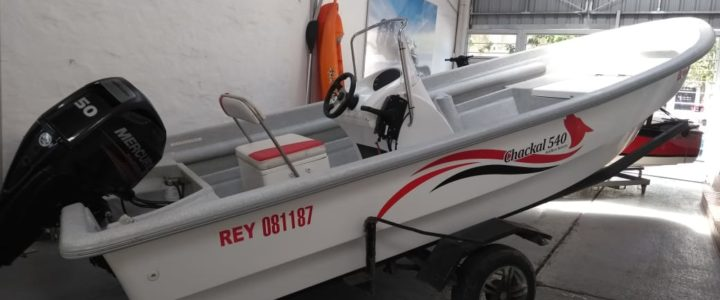 CHACKAL 540 FISHING C/MERCURY 50 HP. 4T.